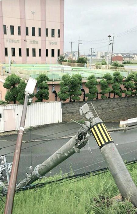 電柱の倒壊(近畿地方)