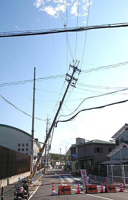 2018年台風21号による電柱の倒壊(近畿地方)