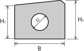 ライン導水ブロック-G型寸法表