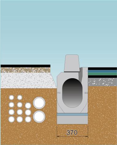 電線共同溝などの地下埋設物との干渉リスクを低減