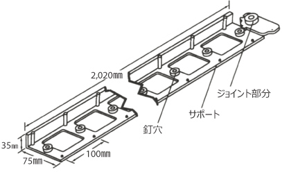 スナップエッジ[ロータイプ]の構造イメージ01